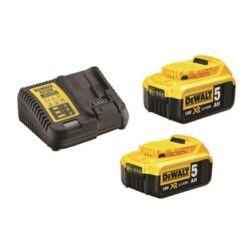 DCB115P2 XR 10.8-18V akkumulátor töltő + 2db DCB184-XJ Akku