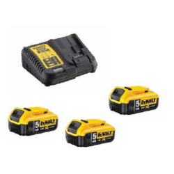 DCB115P3 XR 10.8-18V akkumulátor töltő + 3db DCB184-XJ Akku