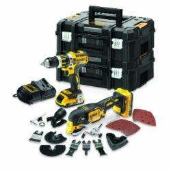 DCK257D2T 18V-os XR kefe nélküli ütvefúró-csavarozó és rezgőfunkciós Multi Tool készlet